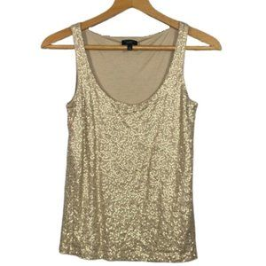 Talbots - Sequin Gold Lined Tank